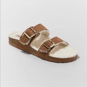 Footbed sandals  jesus shoes sherpa sandal